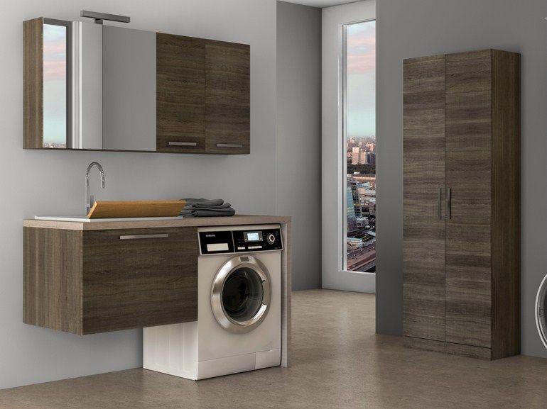 waschk che-schrank zur wandmontage mit integriertem waschbecken, Hause ideen