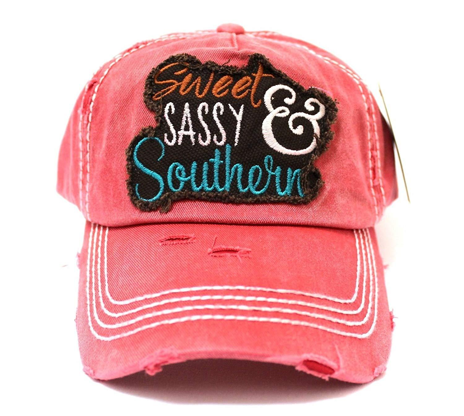 3c4b24fbf New! Sweet, Sassy & Southern Vintage Baseball Cap- Coral | Products ...