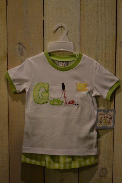 Golf shirt appliqué