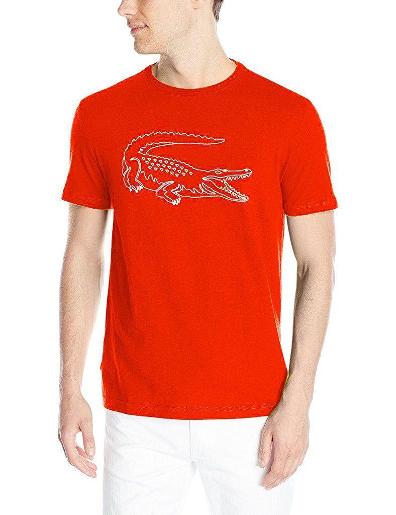 7e1956bfbdeef6 Amazon.com  Lacoste Men s Short Sleeve Croc Graphic Regular Fit T-Shirt   Clothing
