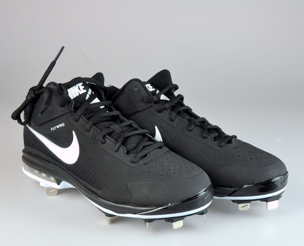 navy and red baseball cleats nike trainer 4.0