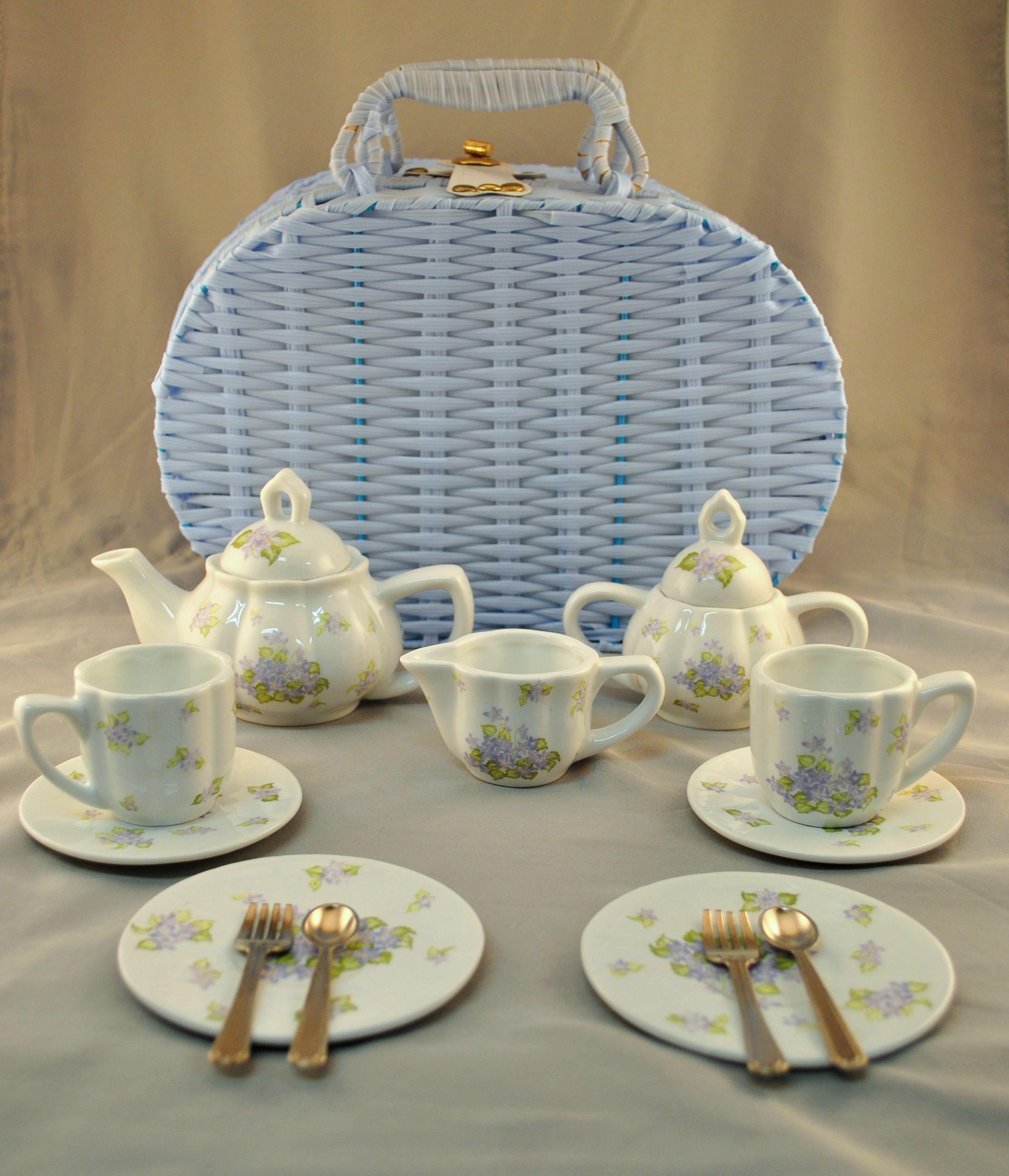 Lavender themed mini tea set. Item80952 37.50