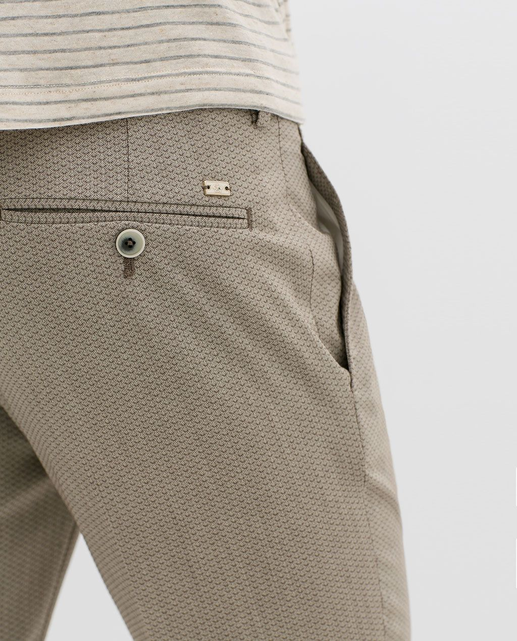 ZARA MAN STRUCTURED JACQUARD TROUSERS | Pantalones de