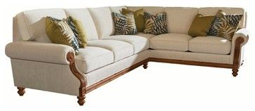 Tommy Bahama Home Island Estate West S Sectional Tropical Sofas Unlimited Furniture