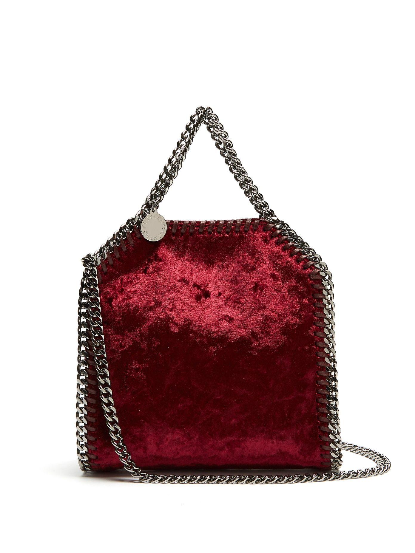 678ef0b8d65a STELLA MCCARTNEY Tiny Falabella velvet cross-body bag