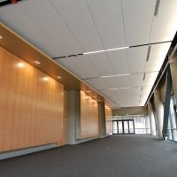 USG Halcyon Planks And Panels In 9 16 DXT Suspension System At Stanford Learning Knowledge Center