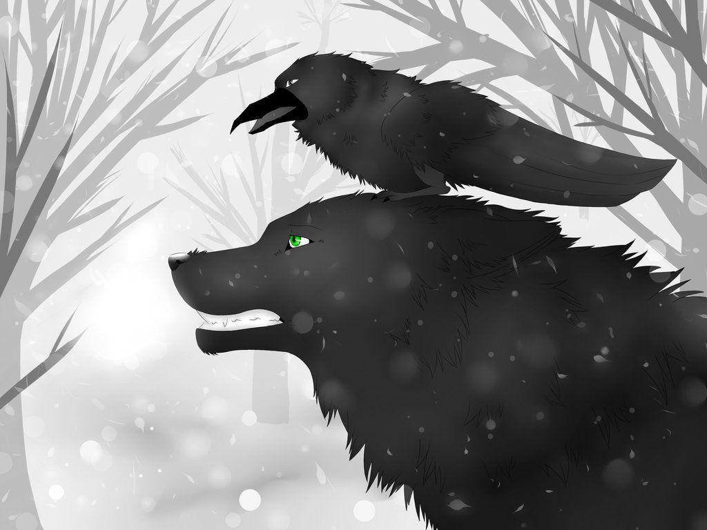 милая картинки волки с воронами тела