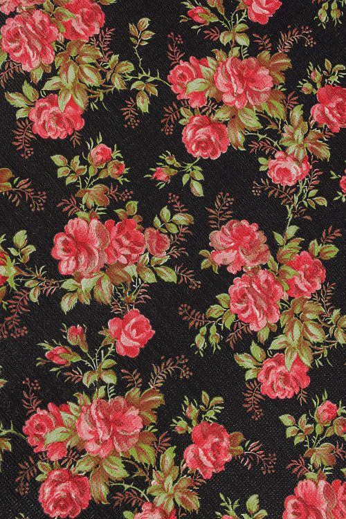 Vintage Home - Vintage Pink Roses Wallpaper. | Patterns ...