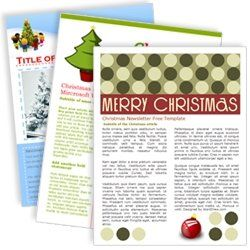 download free one and two page newsletter template for microsoft word to create your own holiday. Black Bedroom Furniture Sets. Home Design Ideas