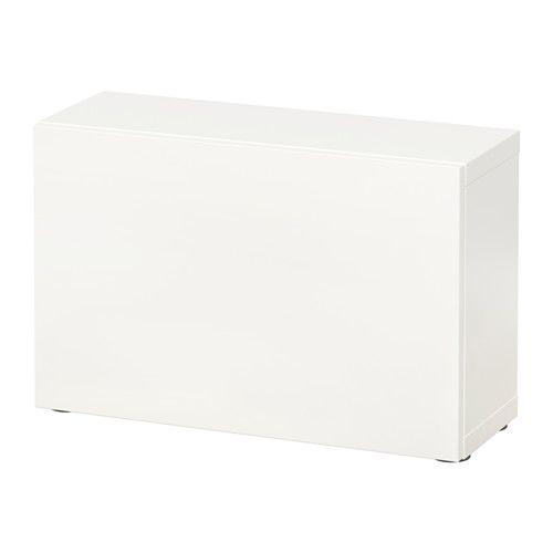 BESTÅ Hylde med dør, Lappviken hvid 60x20x38 cm, 280 kr.