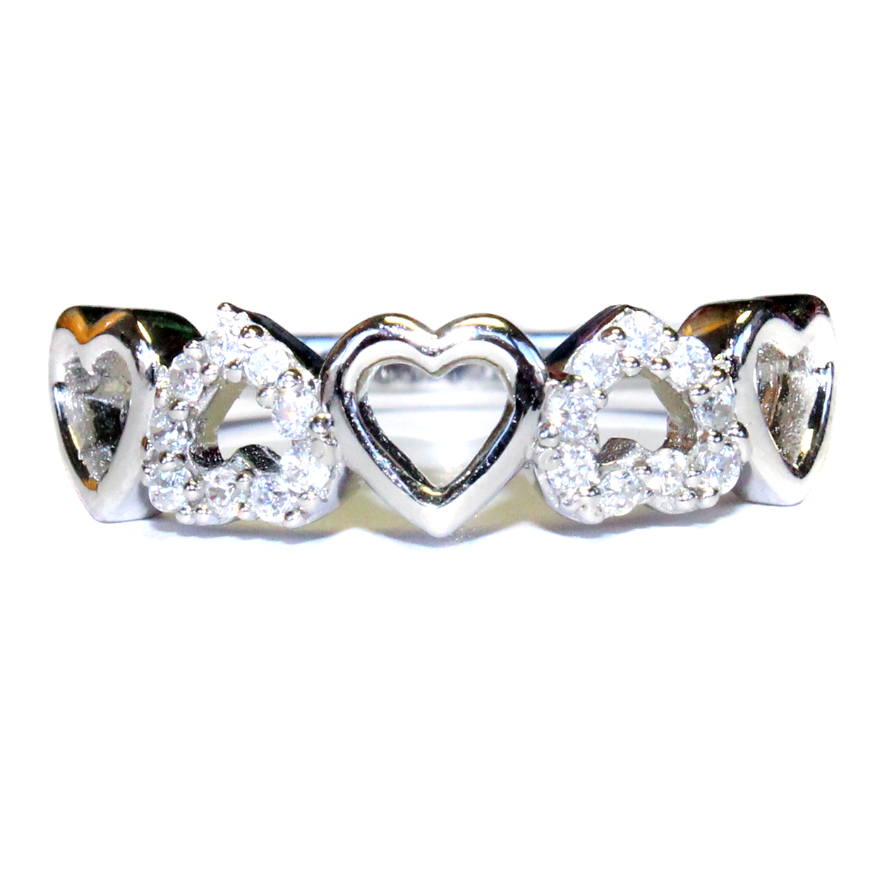 5 Hearts Promise Ring - Beautiful Promise Rings #HeartPromiseRing ...
