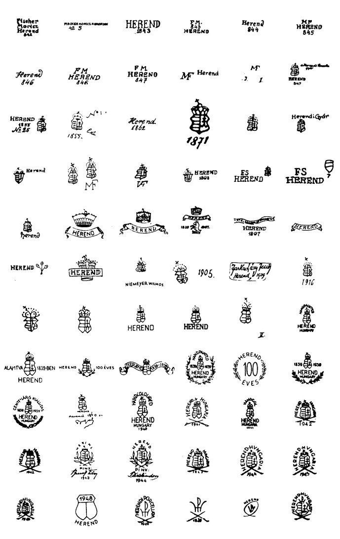 stamped markings for porcelin figurines - Google Search