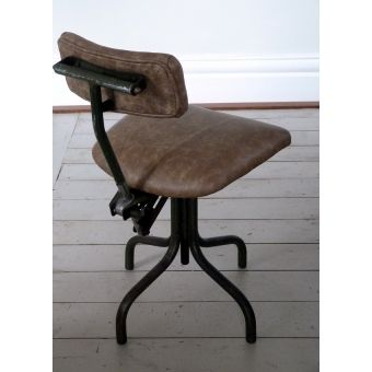 1950s French Industrial Work Chair