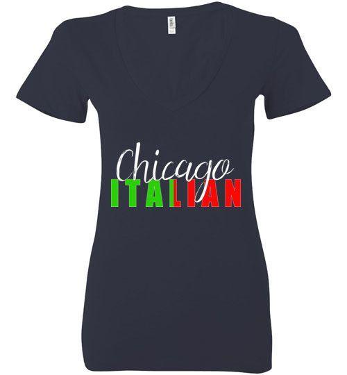 Chicago Italian Ladies Deep V-Neck Shirt