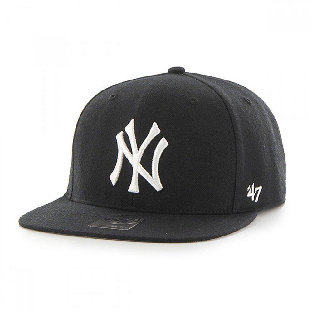 Cap 47 Brand Mlb New York Yankees Captain Snapback Black Kids Ebay 47 Brand New York Yankees Yankees Hat