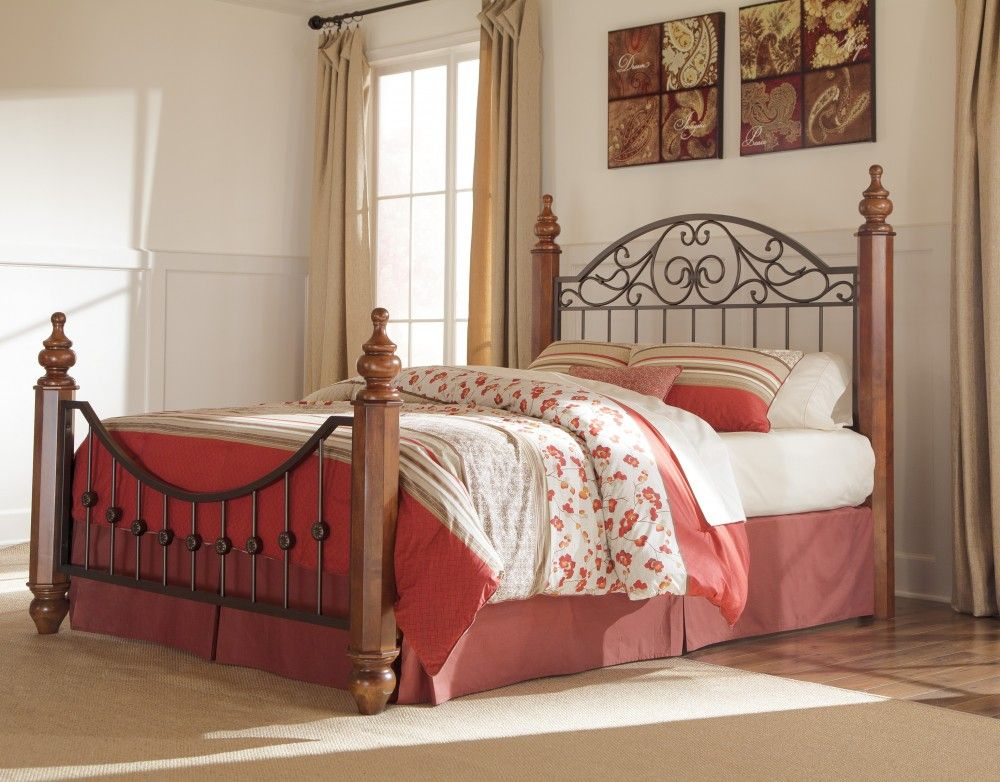 Wyatt King Poster Bed Traditional