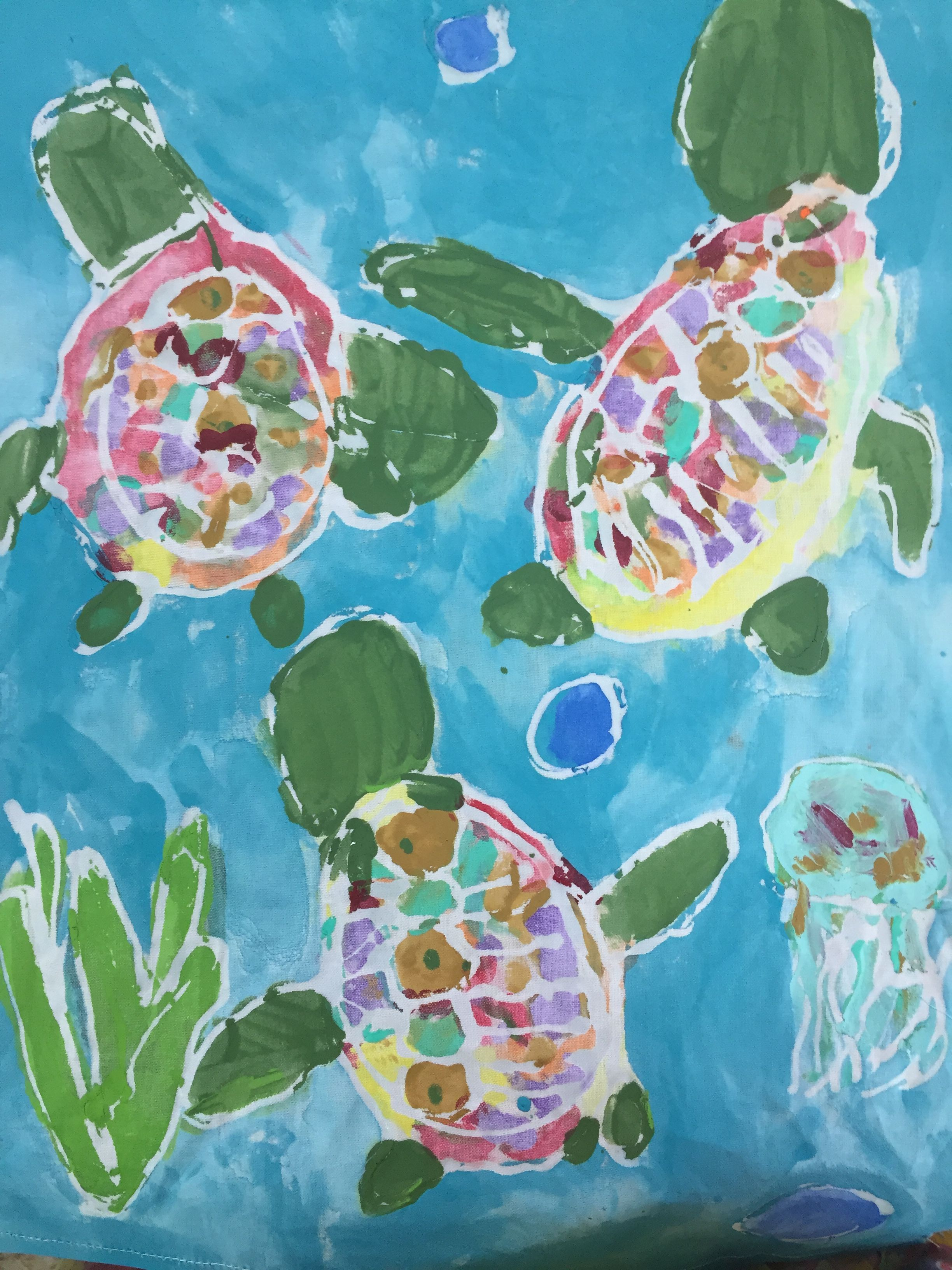 Clear glue and fabric painting art clear glue