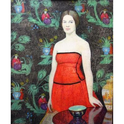 Lady in Red by Emma Fordyce Macrae