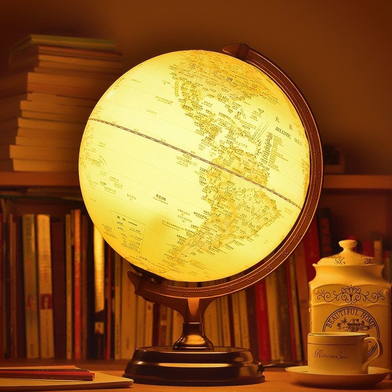 30cm Hd Antique 3d Relief Earth Globe Table Lamp Student Kids Geography Gifts Study Office Desk Decor World Map Ligh Antique Desk Decor Antique Desk Desk Decor