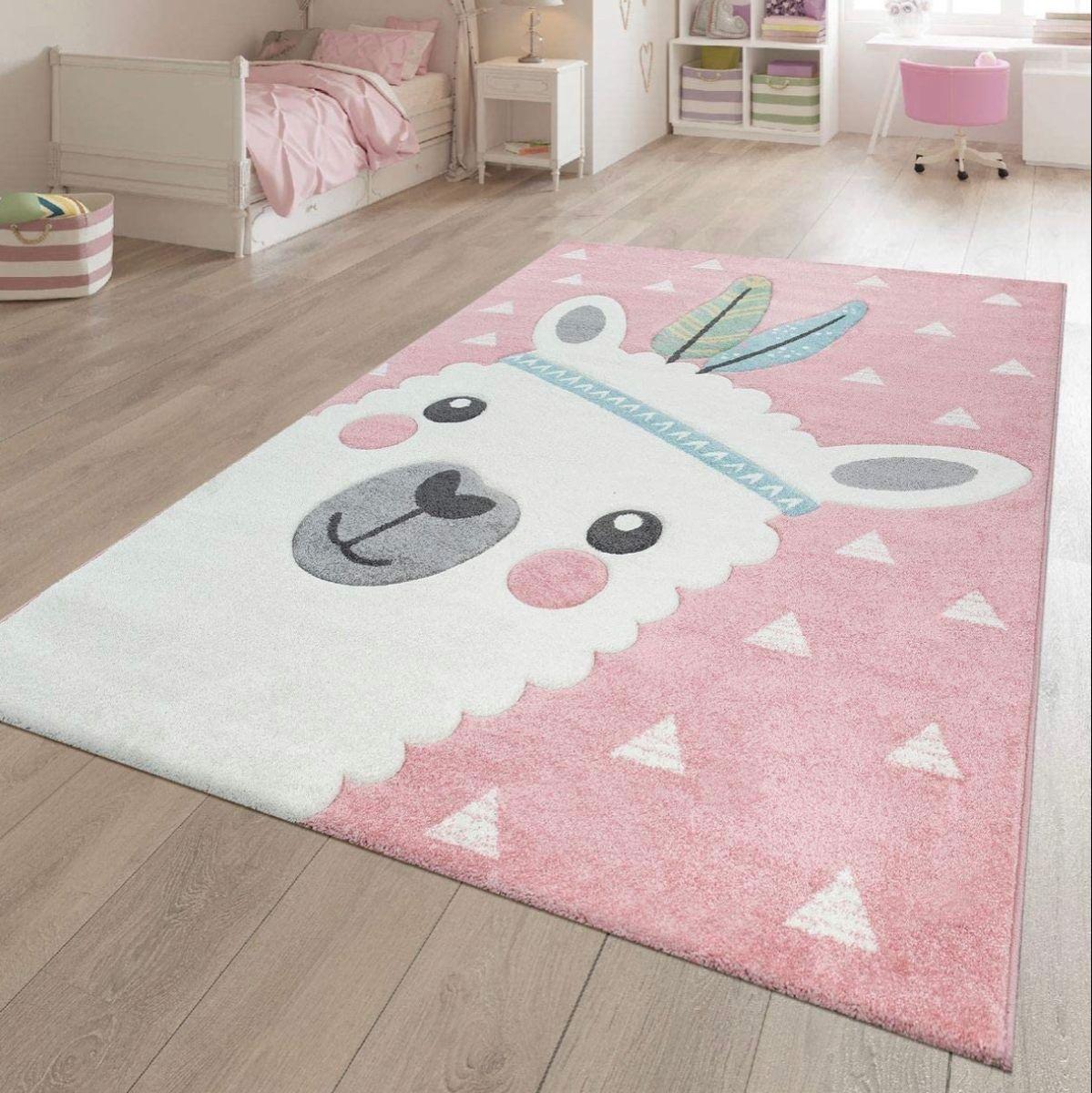 Llama Carpet Girl Nursery Room Kids Bedroom Rugs Kids Room Rug