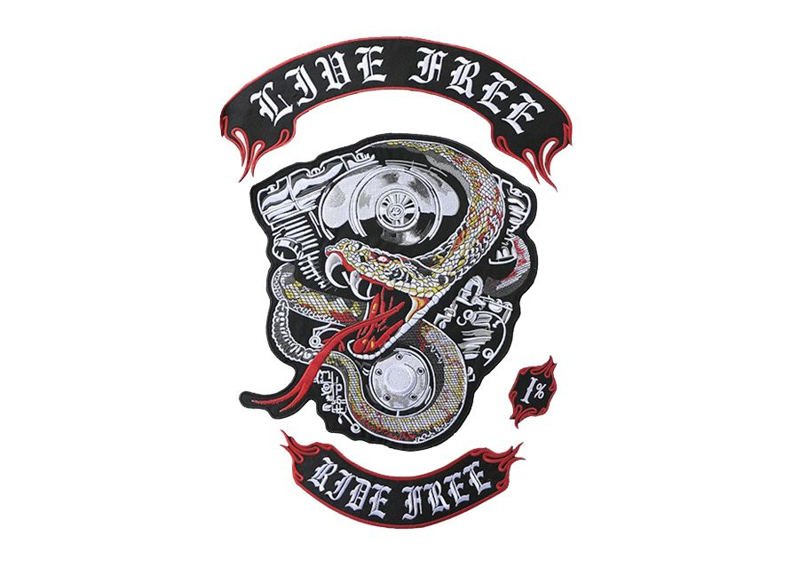 Free Shipping Engine Python Embroidered Patches Quebec