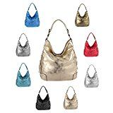 OBC Ladies Metallic Bag Shopper Hobo Bag Bolso de hombro Bolso de hombro Bolso