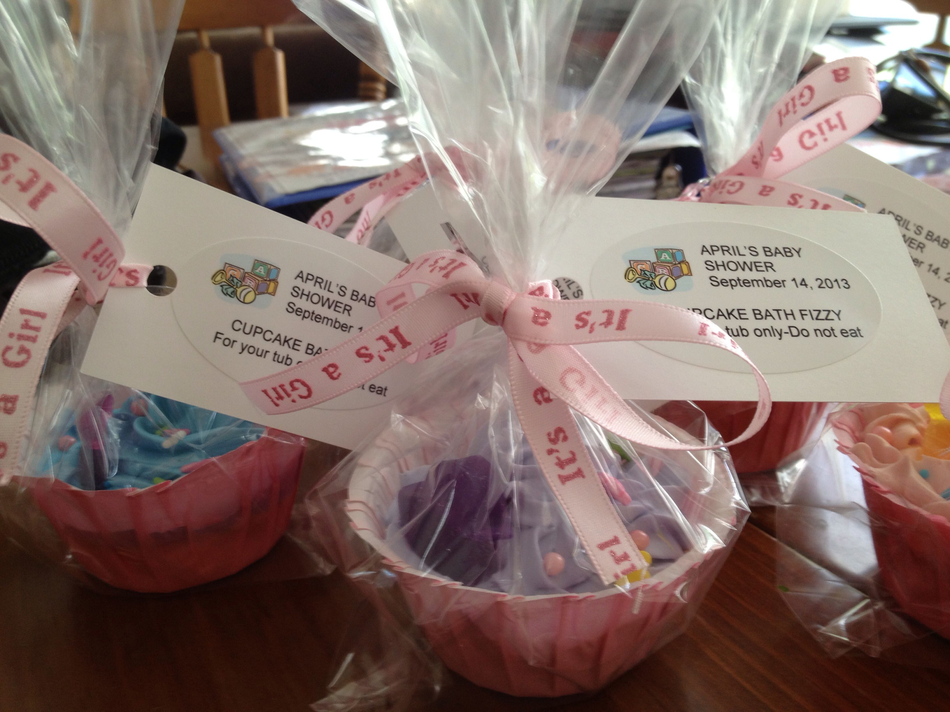 Cupcake Bath Fizzy Favors For A Baby Shower