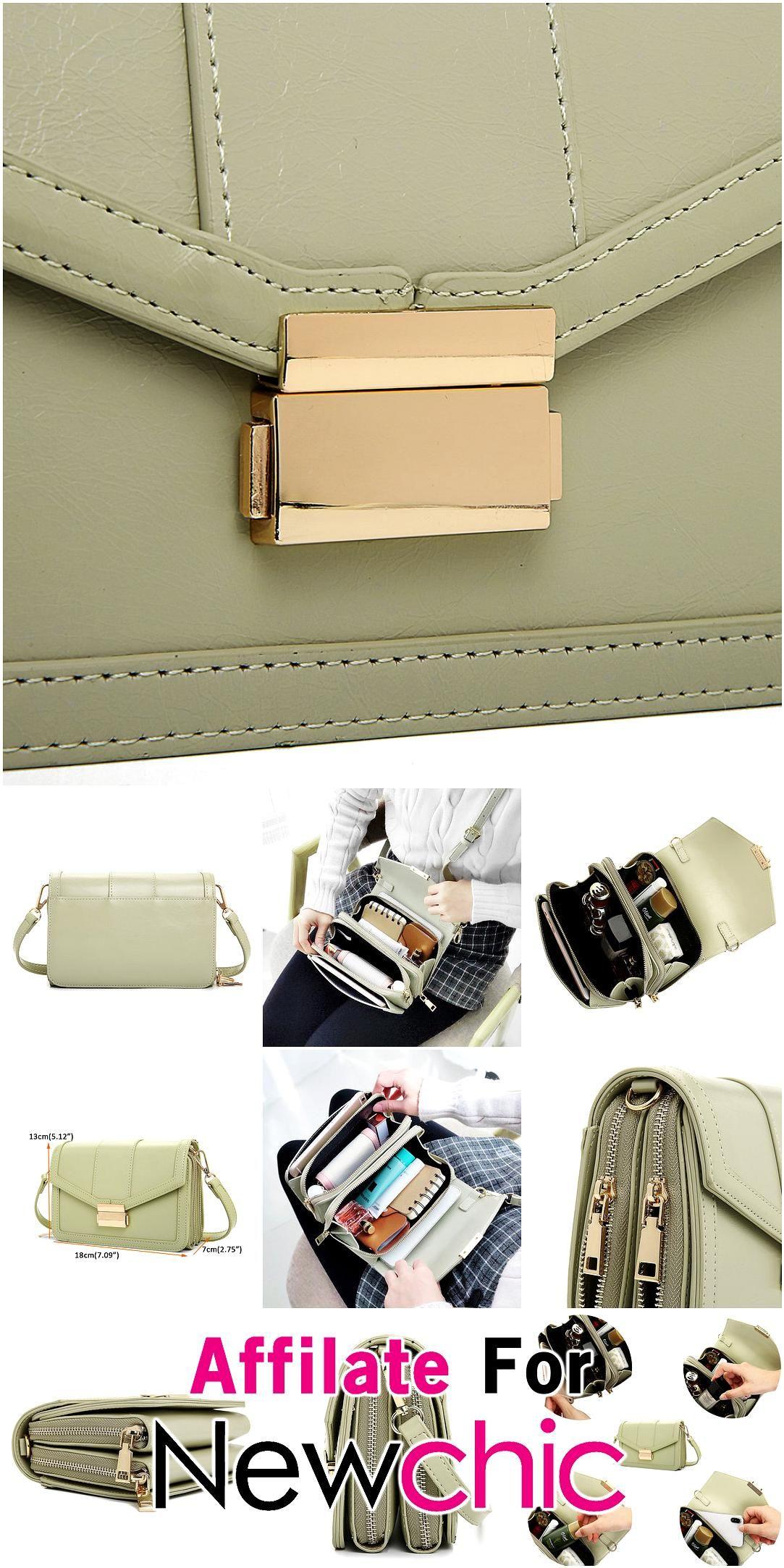 Womens Faux Leather Plain Solid Color Shoulder Bag Ladies Handbag