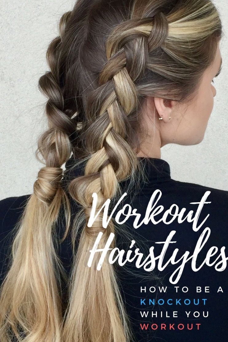 Seven Functional Equally Adorable Gym Hairstyles To Look Cute While Working On Your Fitness Workout Hairstyles Cute Workout Hair Gym Hairstyles