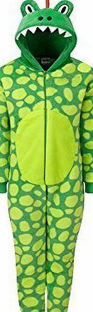 9240e86ffe63 Onesies Animal Crazy Boys Supersoft Fleece Dinosaur Jumpsuit Playsuit