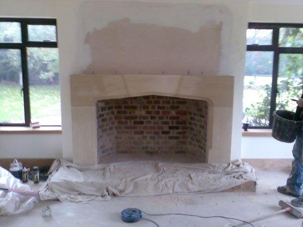 limestone fireplaces - Google Search