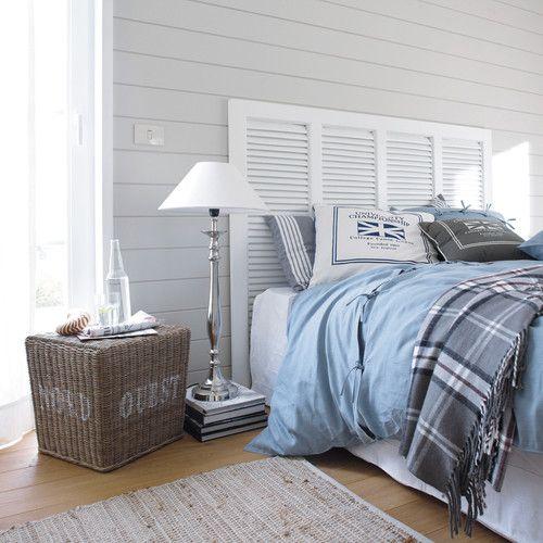 Bett Kopfteil Aus Holz, B 160 Cm, Weiß