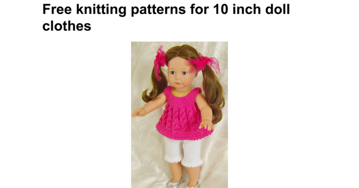 Image result for free doll clothes knitting patterns | Barbie doll ...