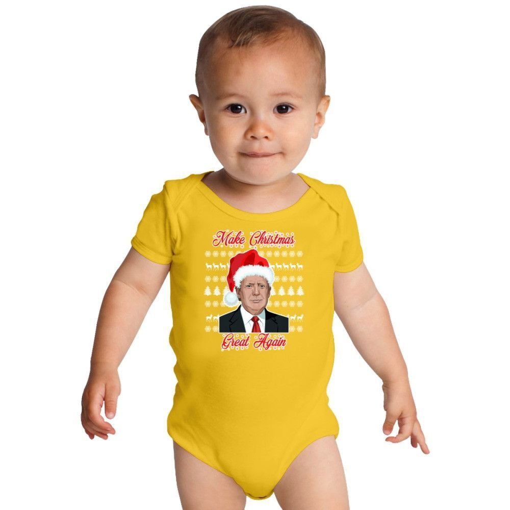 Make Christmas Great Again Baby Onesies