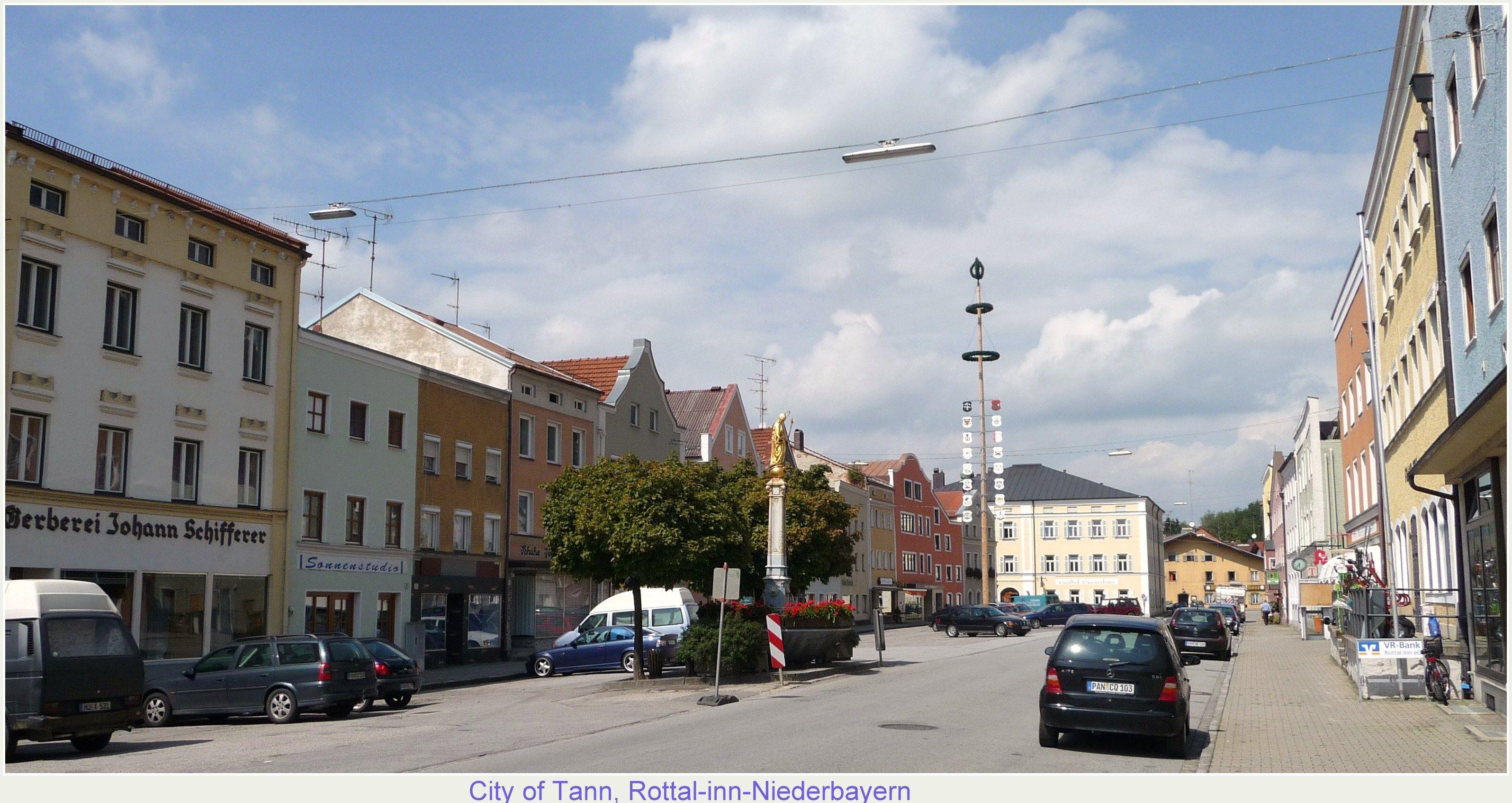 City Of Tann In Rottal Inn In Niederbayern Tann Lower City