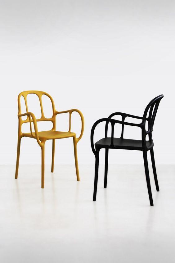 Plastic Design Stoelen.Mila Chair Magis Jaime Hayon Stackable Polypropylene 350