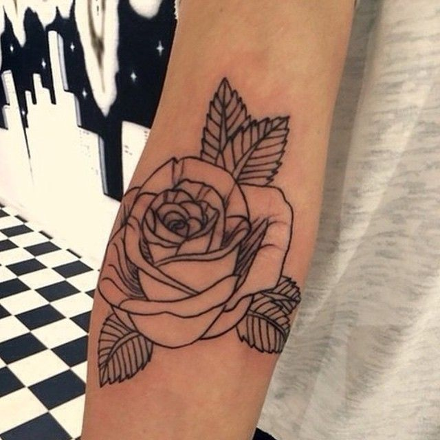 Instagram Tattoos Sharing Page @inkspiringtattoos Rose tat.  #ink...Instagram photo | Websta (Webstagram)