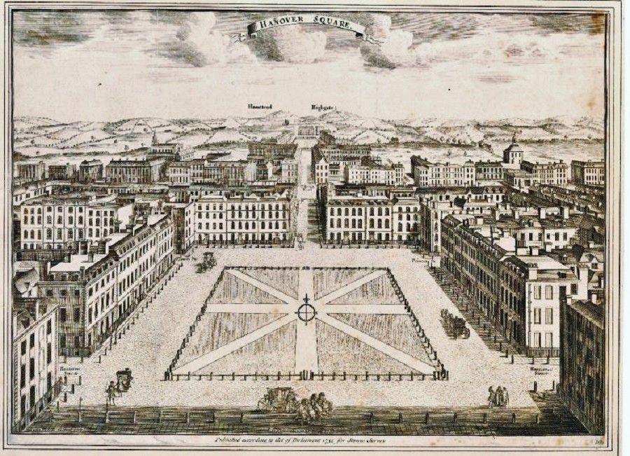 Hanover Square 1720-28 | London history, London, London square