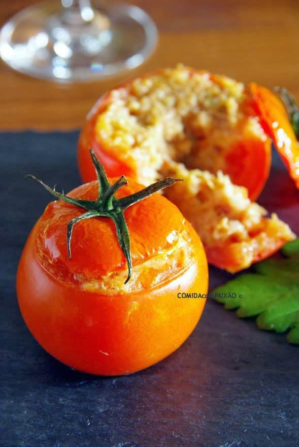 Tomates recheados com Alheira e Aipo
