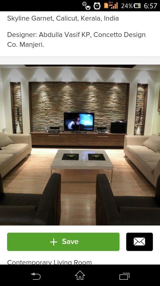 Wall clading - for tv unit   Design   Pinterest   Sala de estar y Mesas