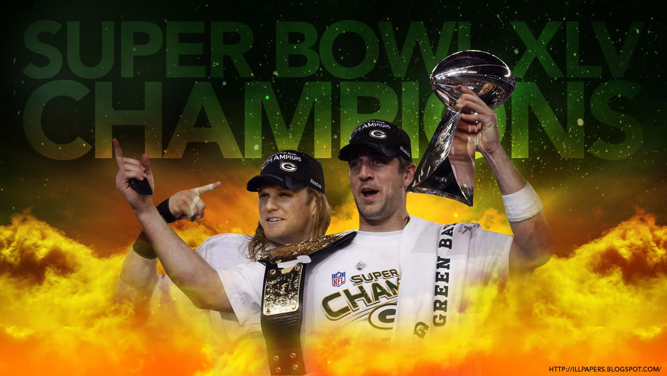 Aaron Rodgers And Clay Matthews Are The Super Bowl Champs Clay Matthews Superbowl Xlv Packers Super Bowl