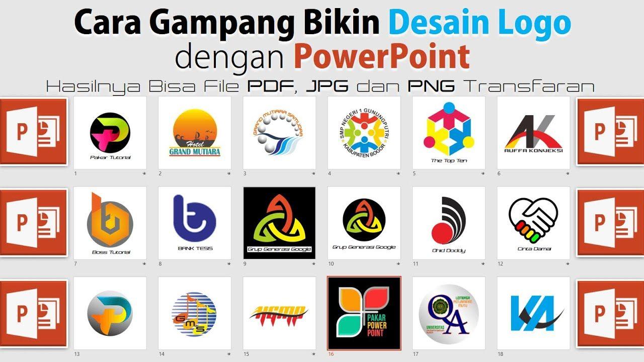 Cara Buat Desain Logo Dengan Powerpoint Desain Logo Desain Desain Grafis