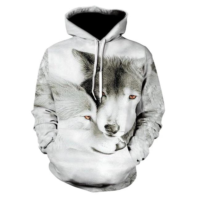 ALISISTER Unisexe 3D Hoodie Cool Sweat /à Capuche /à Manches Longues Sweatshirts avec des Poches S-XXL