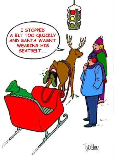 Superior Santa Bumps Into Reindeers Rear End · Christmas HumorFunny Christmas  CartoonsFunny ... Design Ideas