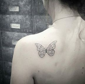 5fceb7d0c 28 Beautiful Black and Grey Butterfly Tattoos | Tattoo ideas ...