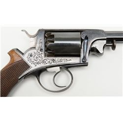 Continental made Adams patent engraved double action revolver remaining in fine to near excellent