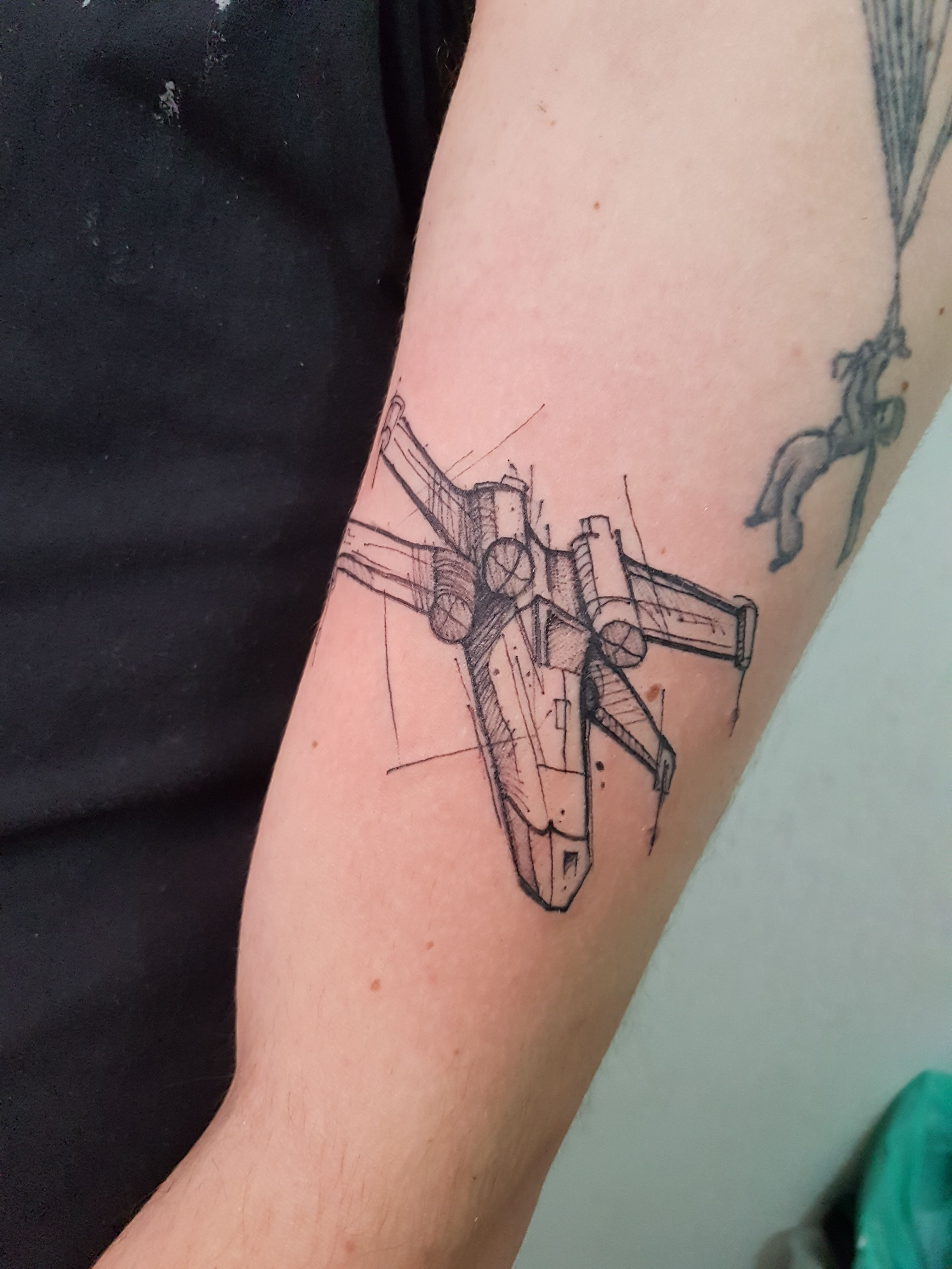 X Wing Tattoo : tattoo, X-Wing, Tattoo, Tattoos,, Tattoos, Pictures,