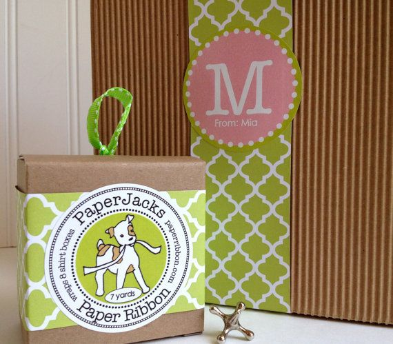 Green Lattice Paper Ribbon by Paperjacks on Etsy, $5.00