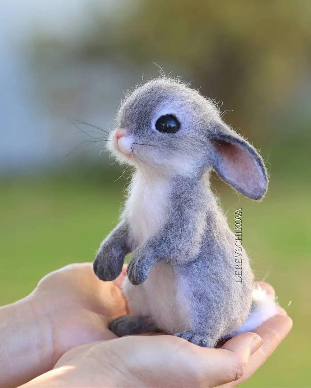 L'artiste Yulia Derevschikova crée d'adorables petits animaux réalistes avec de la laine cardée