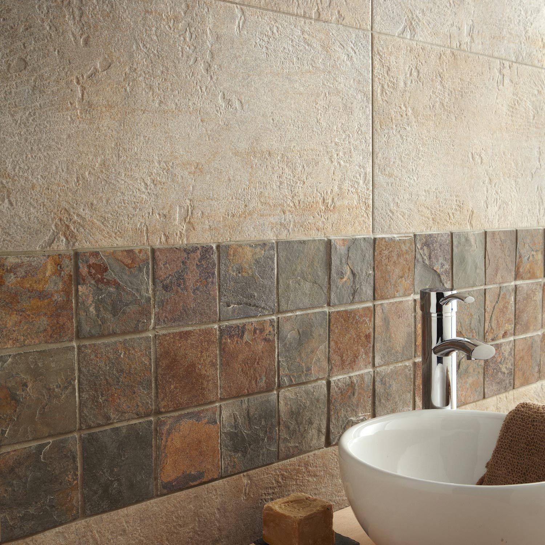 cool mosaque brazil rouille x cm leroy merlin mini salle de bainsalle with leroy merlin salle de. Black Bedroom Furniture Sets. Home Design Ideas